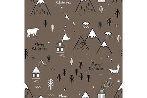 Cute seamless scandinavian pattern