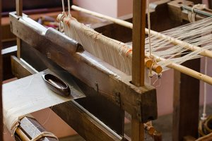Silk on the loom.