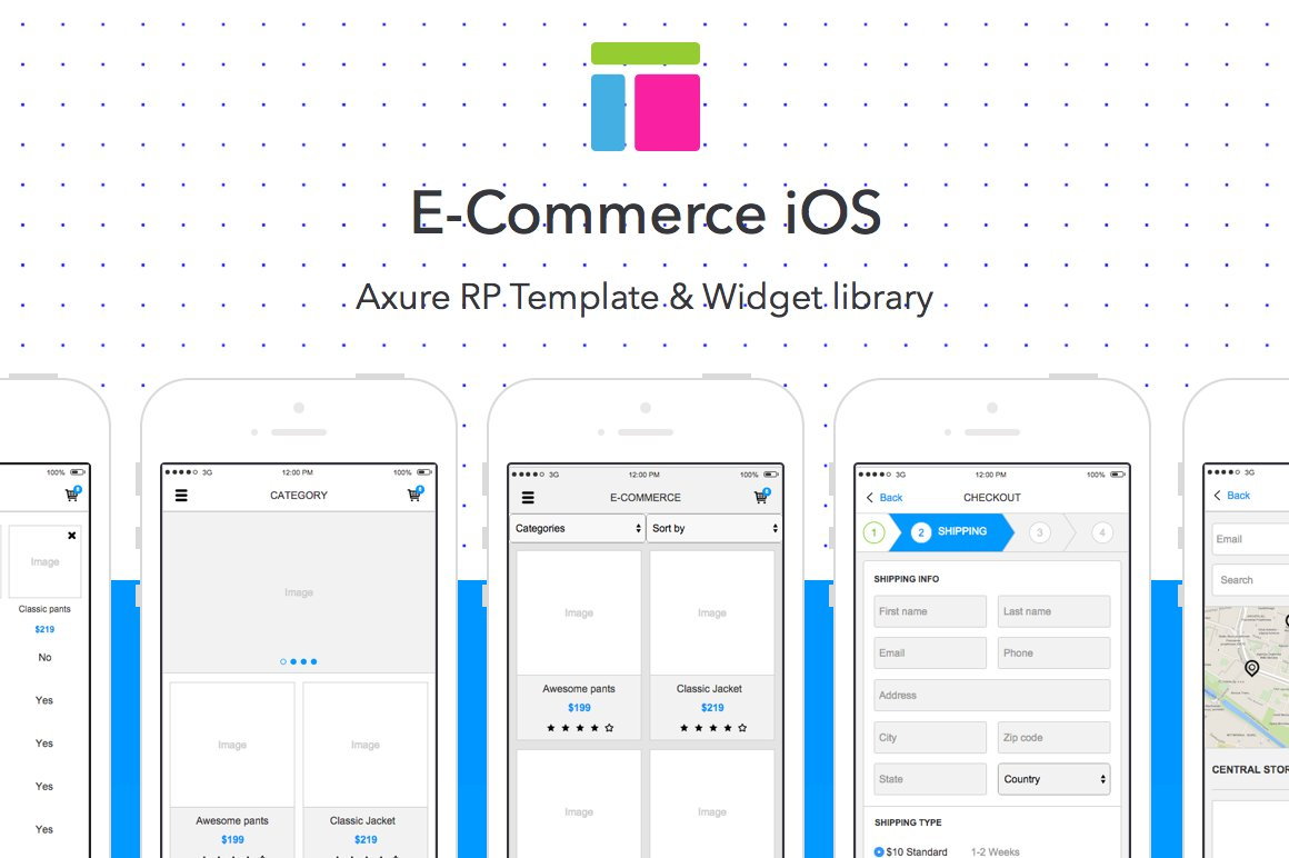 Axure template / E-Commerce iOS ~ Website Templates ~ Creative Market