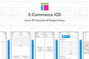 Axure template / E-Commerce iOS