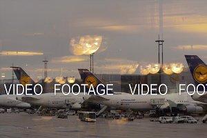 Lufthansa hub at the airport of