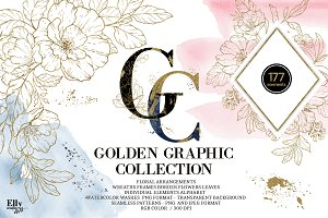 25%OFFGold Floral Graphic Collection