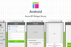 Axure widget library / Android