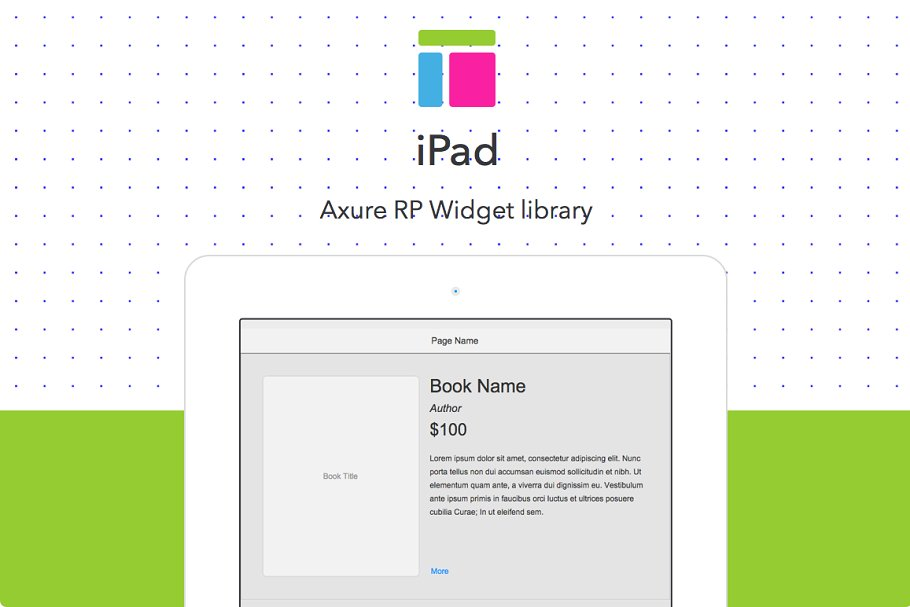 Axure widget library / iPad ~ Other Design Software Add-Ons