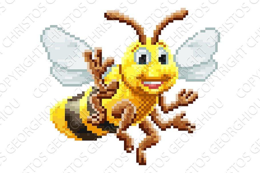 Honey Bee 8 Bit Pixel Game Art