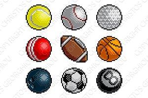 Pixel Art 8 Bit Video Arcade Game