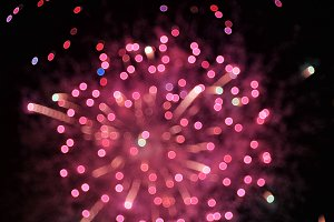 Defocused fireworks