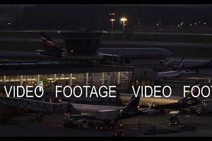 Night view of Sheremetyevo Airport