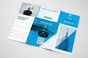 Business Blue Trifold Brochure