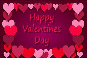 Happy Valentines Day background pink
