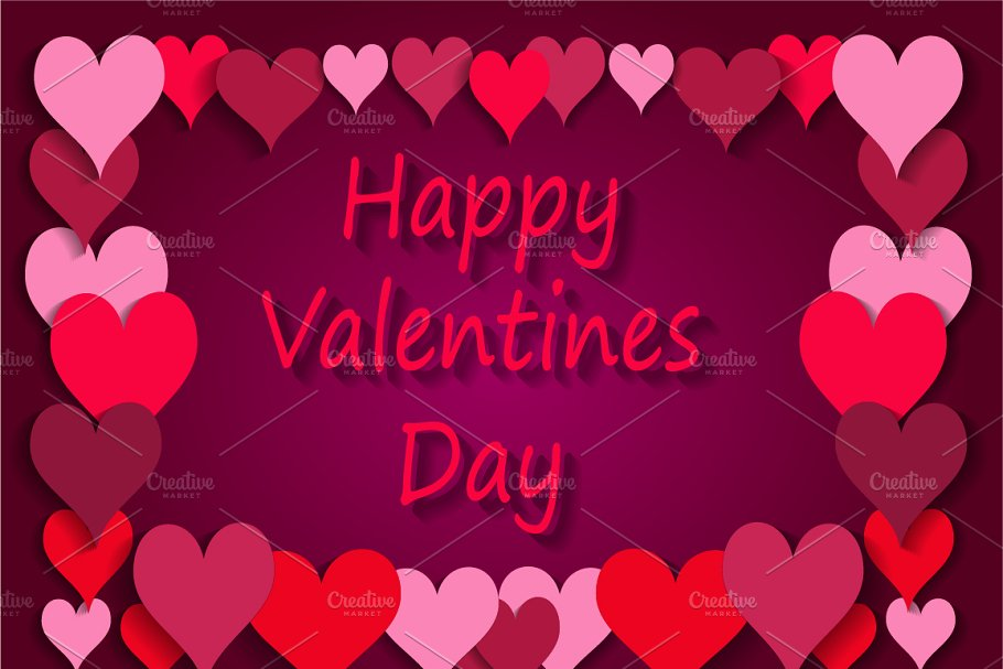 Happy Valentines Day background pink