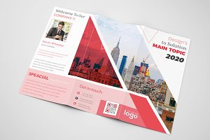 Red Trifold Business Design