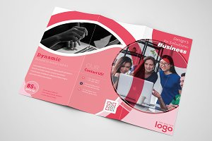 Red Trifold Business Brochure