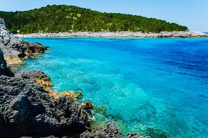 Dafnoudi beach in Kefalonia, Greece