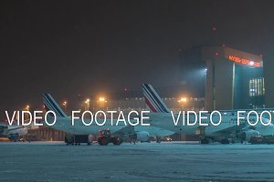 Timelapse of Air France planes being