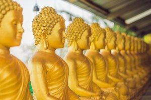 Buddha statues , Face of gold buddha