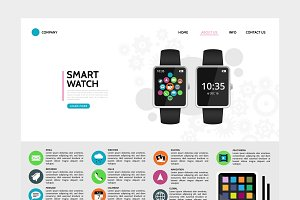 Smart watch landing page concept