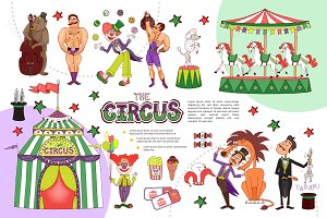 Flat circus composition