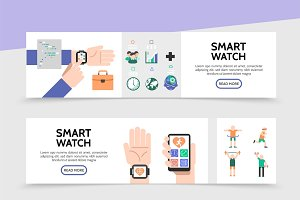 Smart watch horizontal banners