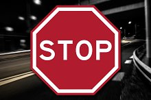 New Stop Sign Decal by Nicholas Ritter in Metal