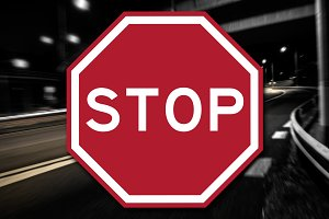New Stop Sign Decal