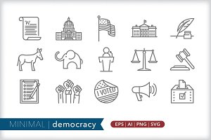 Minimal democracy icons