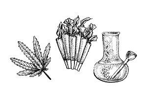 Medical marijuana illustration