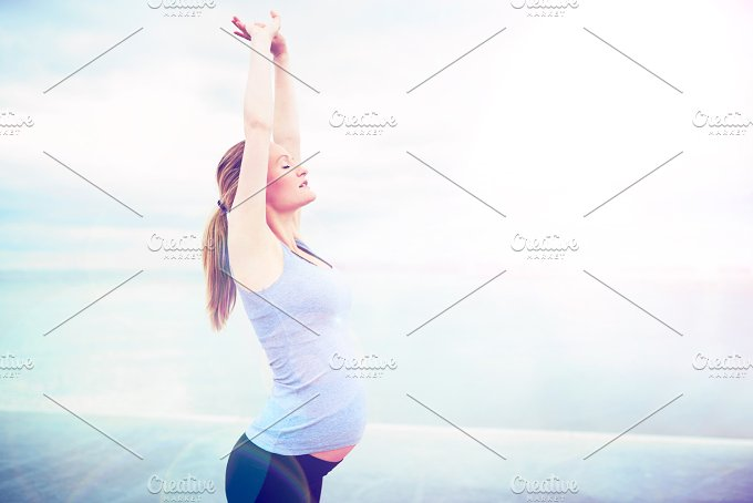 pregnant woman doing breathing exercises.jpg - People