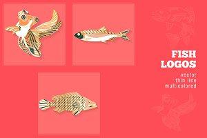 3 Fish & Sea Life Logos