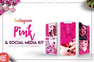 Pink & Instagram Social Media Kit