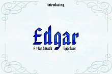 EDGAR, Handmade Gothic Typeface by  in Blackletter Fonts