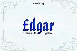 EDGAR, Handmade Blackletter Typeface