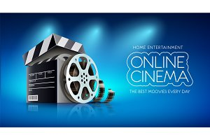 Online cinema Banner for web movies.
