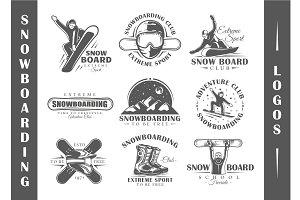 9 Snowboarding Logos Templates Vol.2