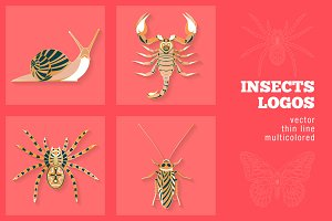 4 Insects Logos