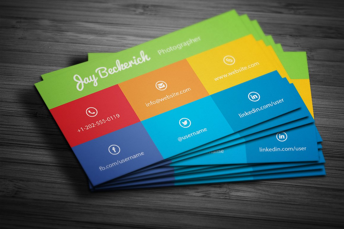 Metro flat business card business card templates creative market wajeb Gallery