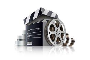 Cinema concept. Movie black film.