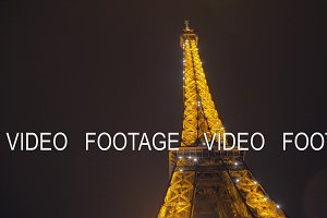 Parisian street and illuminated