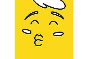 Smile icon template design. Happy