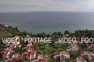 Resort area with cottages on the