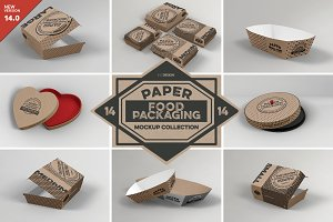 VOL.14 Food Box Packaging Mockups