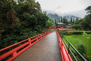 Byodo-In Temple in Valley Hawaii