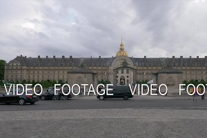 Les Invalides view with entry gate