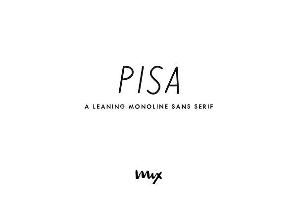 Pisa — A Leaning Monoline Sans Serif
