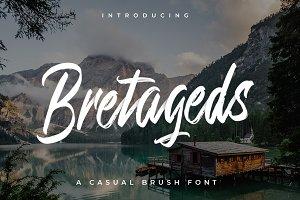Bretageds Brush Font