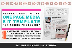 Blogger Media Kit + Icons & IG Posts