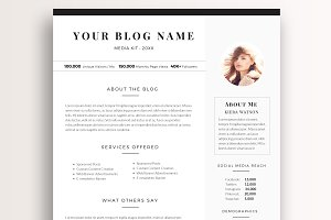 1 Page Blog Media Kit Template