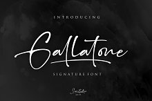 Gallatone // Signature Font & Extras