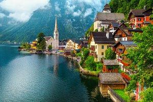 Old alpine village, Hallstatt