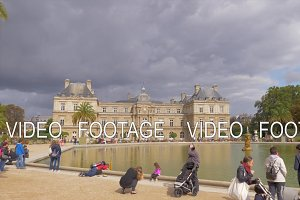 Scene of Luxembourg Gardens with